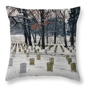 Arlington Winter Snow Throw Pillow