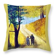 Arm In Arm Throw Pillow