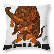 Armadillo Sheriff  Throw Pillow