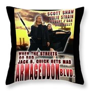 Armageddon Blvd.  Throw Pillow by The Scott Shaw Poster Gallery