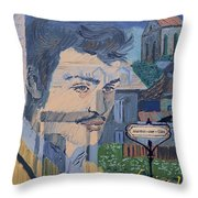Armand On The Train Throw Pillow