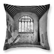 Armed Monk Mono Throw Pillow
