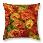 Armful Of Roses 1918 Throw Pillow