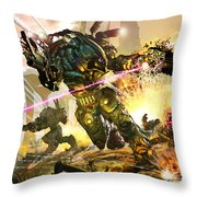 Armored Throw Pillow