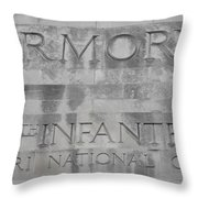 Armory Signage Throw Pillow