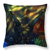 Armour Plated Throw Pillow