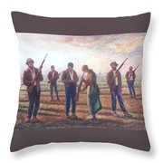 Arms Inspection II Throw Pillow
