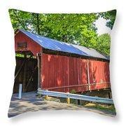 Armstrong/clio Covered Bridge Throw Pillow