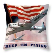 Army Air Corps Recruiting Poster Throw Pillow