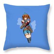Army Girl A Throw Pillow