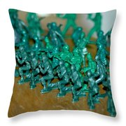 Army Men Line Up Throw Pillow