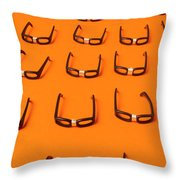 Army Of Nerd Glasses Throw Pillow