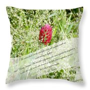 Army Of One - Quote Throw Pillow