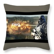 Army Of Two Throw Pillow
