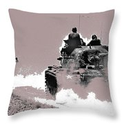 Army Reservists Summer Camp Tanks Death Valley California 1968-2016 Throw Pillow