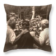 Arnie Gary And Jack Throw Pillow
