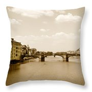 Arno River Florence Throw Pillow