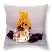 Aromatherapy Angels Throw Pillow
