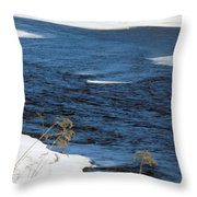 Aroostook River Below The Dam Throw Pillow