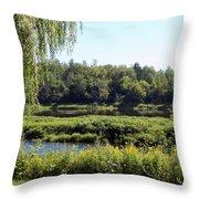 Aroostook River Landscape Throw Pillow