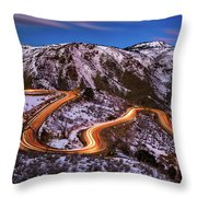 Around The Bends Throw Pillow