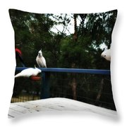 Around The Dinner Table Throw Pillow