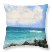 Around The Point Throw Pillow