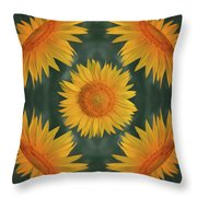 Around The Sunflower Throw Pillow