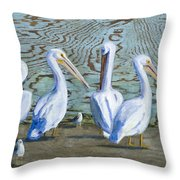Around The Water Cooler Throw Pillow