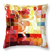 Arraygraphy - Sunset Inferno Triptych Throw Pillow