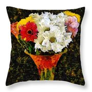 Arrangement In Confetti And Black Throw Pillow