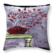 Arrangement In Red Throw Pillow
