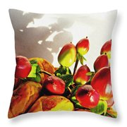 Arrangement On Squash 3 Throw Pillow by Sarah Loft