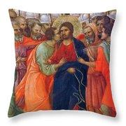 Arrest Of Christ Fragment 1311 Throw Pillow