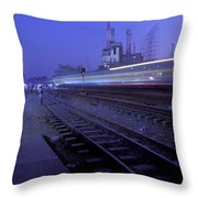 Arrival At Dusk Throw Pillow