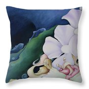 Arrival In Pairs Throw Pillow