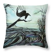 Arrival Of Autumn Throw Pillow
