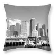 Arriving Downtown Seattle Throw Pillow