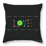 Arrow Love Throw Pillow