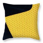 Arrow On Yellow Throw Pillow