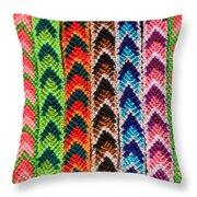 Arrow Pattern Woven Bracelets Throw Pillow