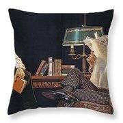 Arrow Shirt Collar Ad, 1914 Throw Pillow