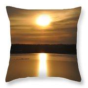 Arrowhead Lake Sunrise Throw Pillow