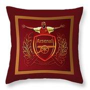 Arsenal London Painting Throw Pillow