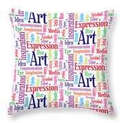 Art And Inspiration Pattern Throw Pillow