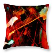 Art And Music Painting Throw Pillow