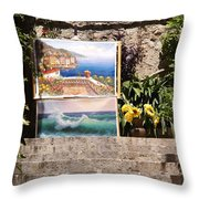 Art At Top Of Stairs Throw Pillow