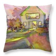 Art Barn, Port Clyde Throw Pillow