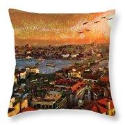 Art Beautiful Views Exist Fragmented Throw Pillow