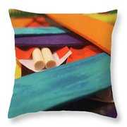 Art Class Throw Pillow